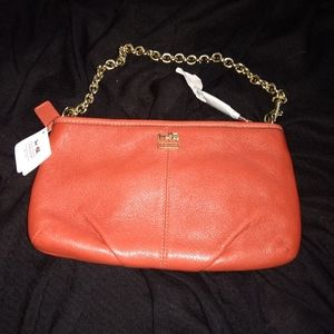 Beautiful Coach purse with gold chain strap NWT